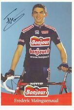 CYCLISME carte cycliste FREDERIC MAINGUENAUD équipe BONJOUR.Fr signée