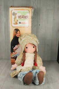 "Vintage Knickerbocker Large Holly Hobby Friend Heather 33"" Tall Rag Doll w/ Box"