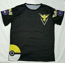 Pokemon Go Team instinct Pokeball Nerd Anime T-Shirt Tops Size XL unisex