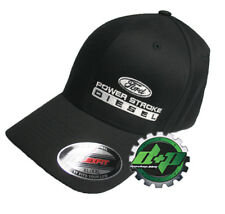 Ford Powerstroke hat ball cap fitted flex fit  flexfit stretch Black XL/XXL