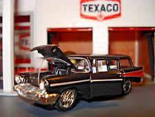 1957 CHEVROLET BEAUVILLE 4 DOOR WAGON LIMITED EDITION 1/64 M2 MODERN CRUISER