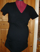 Bnwt femmes maternité noir discret alimentation t shirt 8