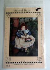 "Homespun at Heart Designs 'School Days' 12"" Tall Raggedy Ann Doll Pattern, HS 9"
