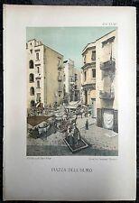 1889 - NAPOLI -  CORSO UMBERTO I  - PIAZZA DELL'OLMO - CARDONE E D'AMBRA
