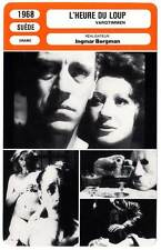 FICHE CINEMA : L'HEURE DU LOUP - Sydow,Ullmann,Bergman 1968 Hour of the Wolf