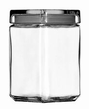 Anchor Hocking Stackable Glass Storage Jar 1.4ltr