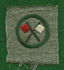 VINTAGE GIRL SCOUT BADGE - FULL SQUARE - SIGNALER - VERY SCARCE