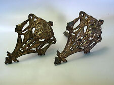 FRENCH ANTIQUE SOLID BRONZE CURTAIN RAIL HOLDERS1800c