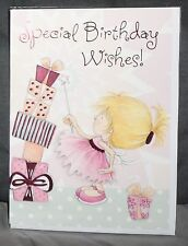 "BN-BIRTHDAY CARD - JUVENILE FEMALE/GIRL - STYLE 21 - ""PRESENTS/WAND"""