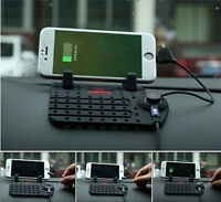 Car Phone Holder Mount USB Charger Cradle Dashboard IPAD iPhone Non-Slip Pad
