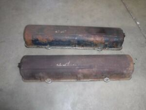 1950,51 Cadillac V8 Scripted Valve Cover Used OEM 1 Pair