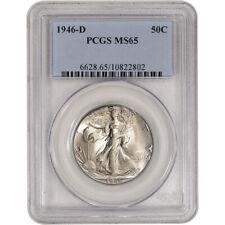 1946-D US Walking Liberty Silver Half Dollar 50C - PCGS MS65