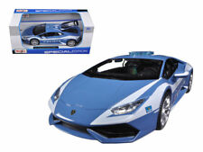 Maisto Lamborghini Huracan LP 610-4 Police Diecast Model Toy Car Blue 1:24