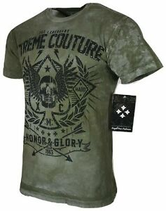 XTREME COUTURE by AFFLICTION Men T-Shirt THE LEGEND Skull Biker MMA GYM S-4X