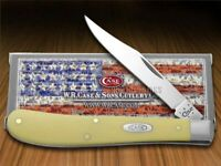 Case xx Slimline Trapper Knife Yellow Delrin Stainless Pocket Knives 80031