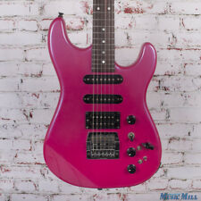 1980s BC Rich NJ Series ST-3 Electric Guitar Pink