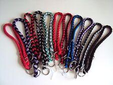 Hundehalsband/Nylonwürger geflochten mit Stop in vers. Farben,Breiten u.Größen