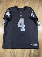 Nike Vapor Elite Oakland Las Vegas Raiders Derek Carr 851612-010 NFL Jersey 52