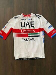 UAE Emirates Short Sleeved Jersey Kristoff Rider Issued White Mesh Aero Lightwei