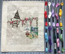Partially Worked Vintage Embroidery with Silks