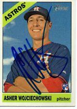 Asher Wojciechowski Houston Astros 2015 Topps Heritage Signed Card