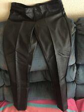 e831f1810bdb3 Decree Black Faux Leather Pants Juniors Size 13 Straight Leg NWTS $50  JCPENNEY