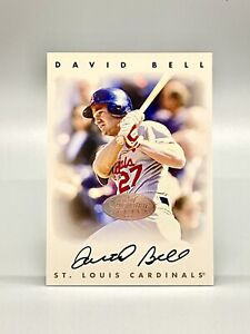 1996 Leaf Signature Series Silver David Bell Auto