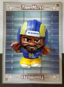 """Collectible NFL TEENYMATES 1"""" figure Aaron Donald RAMS Silver Series 9 NEW!"""