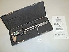 "MAHR 6"" Digital Machinist Calipers, Reads in .0005"" English and 0,01mm, Germany"