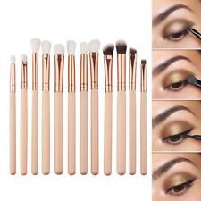 Fashion 12Pcs/set Eye Shadow Kits Foundation Brush Make Up Cosmetic Brush jzus