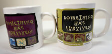 Vintage Jurassic Park The Lost World Dinosaurs Ceramic Mug Cups Set x 2 1990s
