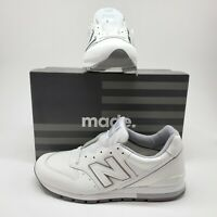 New Balance 996 Made in USA Mens 11 D 30th Anniversary White NB Shoes M996MUB