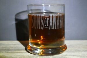 Etched Whiskey glassware Sons of Anarchy Great Gifts 12 Oz