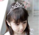 Girls Rhinestone Crystal Tiara Hair Band Bridal Princess Prom Crown Headband