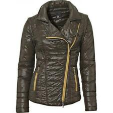 Best Connection Steppjacke Weste Gr.34,38,40,42 NEU Damen Biker Style Khaki B.C.