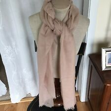 Vintage Designer Signed Pale Blush Pink Lightweight Wrap Shawl 82�