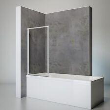 Badewannenaufsatz Faltwand Duschwand OHNE BOHREN 1-teilig alunatur Schulte