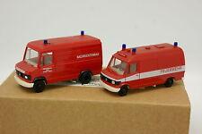 Herpa 1/87 HO - Lote de 2 Camioneta Mercedes Bomberos Feuerwehr