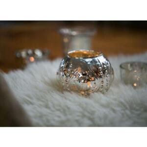 Luna Bazaar Mercury Glass Vase and Candle Holder (5.75-Inches, Large Josephin...