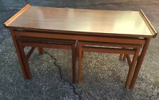 G PLAN STYLE NEST TABLES WITH LAMINATED TOPS RETRO VINTAGE