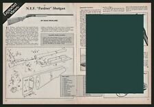 1988 N.E.F. Pardner Shotgun Exploded View Parts List 2-page Assembly Article