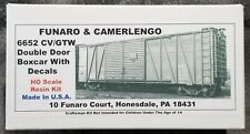 Funaro F&C 6652 CENTRAL VERMONT Double DD Boxcar  CV  GTW GRAND TRUNK Western