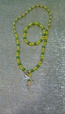 DISNEY TINKER BELL PETER PAN PARTY NECKLACE & BRACELETS  SET.TOP SELLER