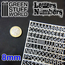 Letters and Numbers 8mm - Miniatures Bases for Blood Bowl Warhammer