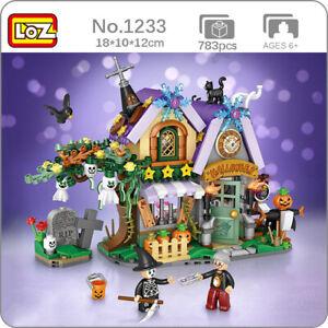 LOZ Halloween House Tree Ghost Pumpkin Monster Animal Mini Blocks Building Toy