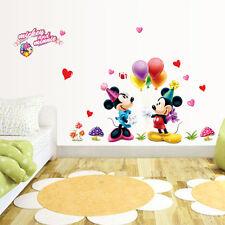 Disney Mickey Minnie Removable Vinyl Wall Decal Sticker Home Decor Baby&Kid Room