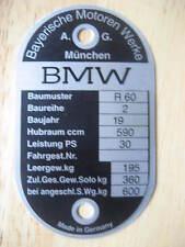 VINTAGE BMW FRAME I.D. TAG FOR R60/2
