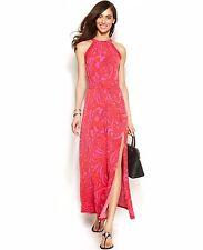 NWT MICHAEL Michael Kors Paisley-Print Maxi Dress ,Size PS