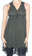 2xtremz Designer Brown Green Polka Dot Chiffon Lace Dress Size XS BNWT [sw113]