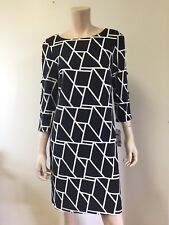 2fa411301dc Sandra Darren Women s New 3 4 Sleeve Printed Cutout Back and Arm Detail  Dress